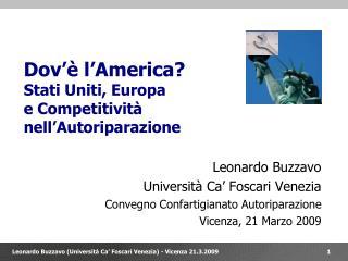 Dov'è l'America? Stati Uniti, Europa e Competitività  nell'Autoriparazione
