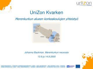 UniZon Kvarken Merenkurkun alueen korkeakoulujen yhteistyö Johanna Backman, Merenkurkun neuvosto