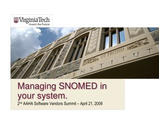 Managing SNOMED in your system.