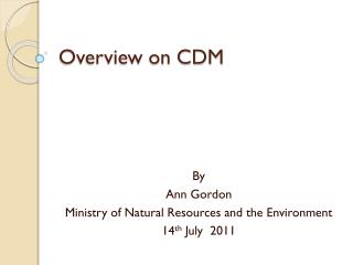 Overview on CDM