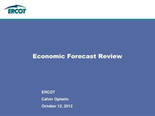 Economic Forecast Review