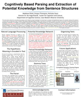 Cognitively Based Parsing and Extraction of Potential Knowledge from Sentence Structures