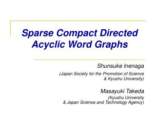 Sparse Compact Directed Acyclic Word Graphs
