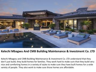 Kelechi Mbagwu And CMB Building Maintenance & Investment Co.