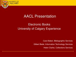 AACL Presentation