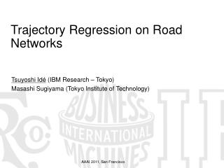 Trajectory Regression on Road Networks
