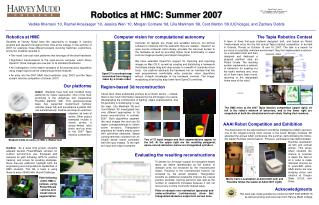 Robotics at HMC: Summer 2007