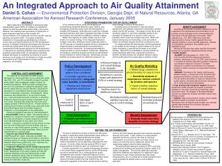 An Integrated Approach to Air Quality Attainment