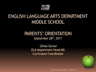 MLS revolutionized the ELA Department