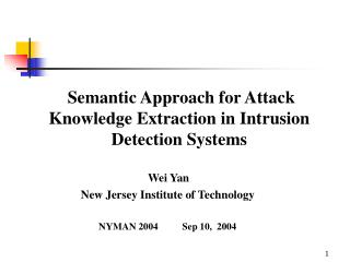 Semantic Approach for Attack Knowledge Extraction in Intrusion Detection Systems