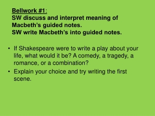 Elements of Shakespearean Play