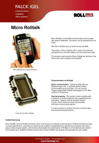Micro Rolltalk