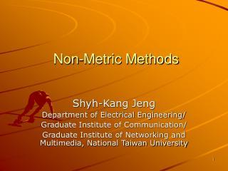 Non-Metric Methods