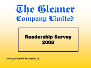 Readership Survey 2008