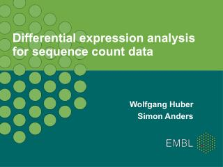 Differential expression analysis for sequence count data