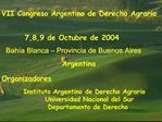VII Congreso Argentino de Derecho Agrario
