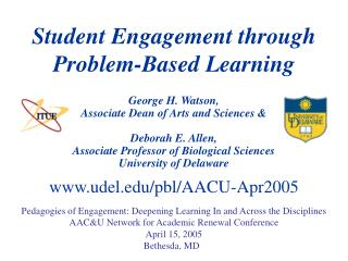 Student Engagement through  Problem-Based Learning