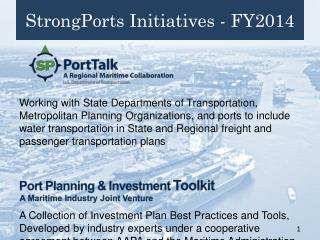 StrongPorts Initiatives - FY2014