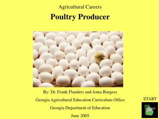 Agricultural Careers Poultry Producer