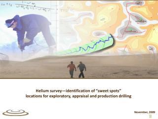 "Helium survey—identification of ""sweet spots"""