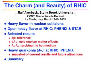 The Charm (and Beauty) of RHIC