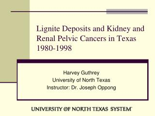 Lignite Deposits and Kidney and Renal Pelvic Cancers in Texas 1980-1998