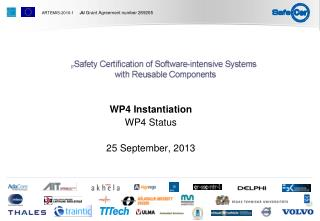 WP4 Instantiation  WP4 Status 25 September, 2013