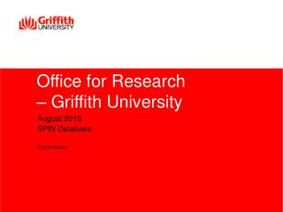 Office for Research – Griffith University