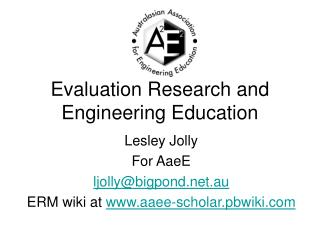 Evaluation Research and Engineering Education