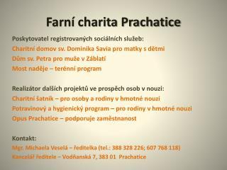 Farní charita Prachatice