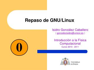 Repaso de GNU/Linux
