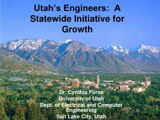 Utah�s Engineers:  A Statewide Initiative for Growth