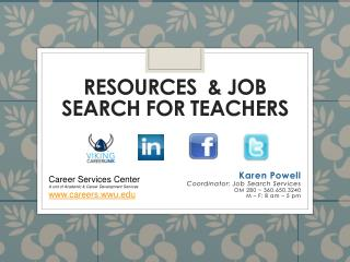 Resources  & Job Search for Teachers