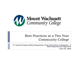 Best Practices at a Two Year Community College