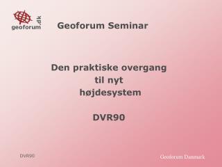 Geoforum Seminar