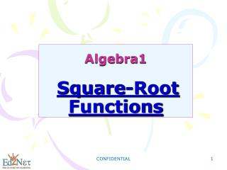 Algebra1 Square-Root Functions