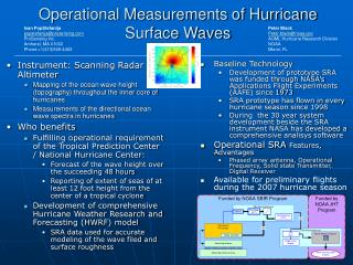 Operational Measurements of Hurricane Surface Waves