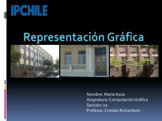 Nombre:  Maria Azúa Asignatura: Computación Gráfica Sección: 02 Profesor: Cristián Richardson