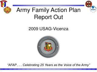 Army Family Action Plan Report Out