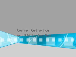 Azure Solution