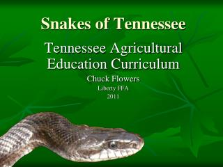 Snakes of Tennessee