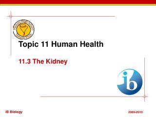 Topic 11 Human Health