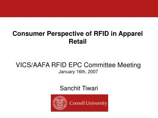 Consumer Perspective of RFID in Apparel Retail