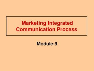Marketing Integrated Communication Process