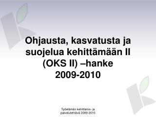 Ohjausta, kasvatusta ja suojelua kehittämään II (OKS II) –hanke 2009-2010
