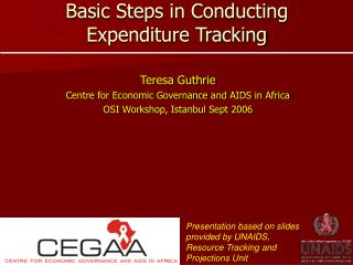 Basic Steps in Conducting Expenditure Tracking
