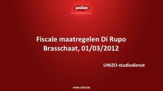 Fiscale maatregelen Di Rupo Brasschaat, 01/03/2012