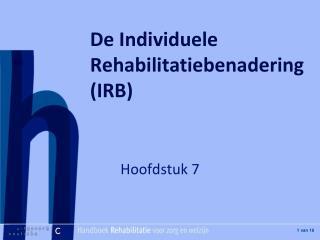 De Individuele Rehabilitatiebenadering (IRB)