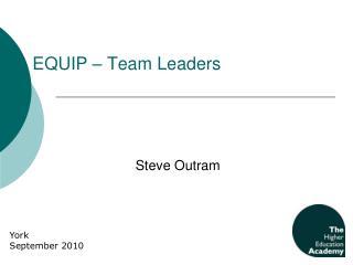 EQUIP – Team Leaders