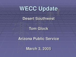WECC Update